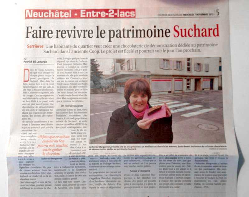 Courrier Neuchatelois du 07-11-2012